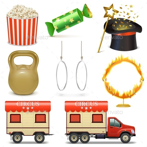 GraphicRiver Circus Icons Set 2 11458811