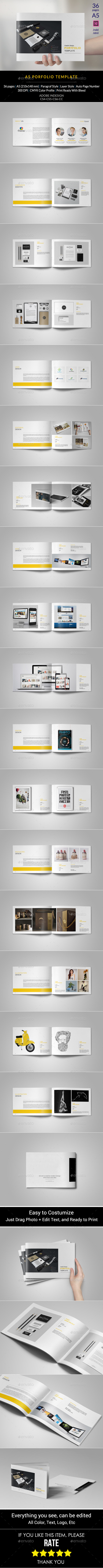 GraphicRiver A5 Portfolio Template 11458895