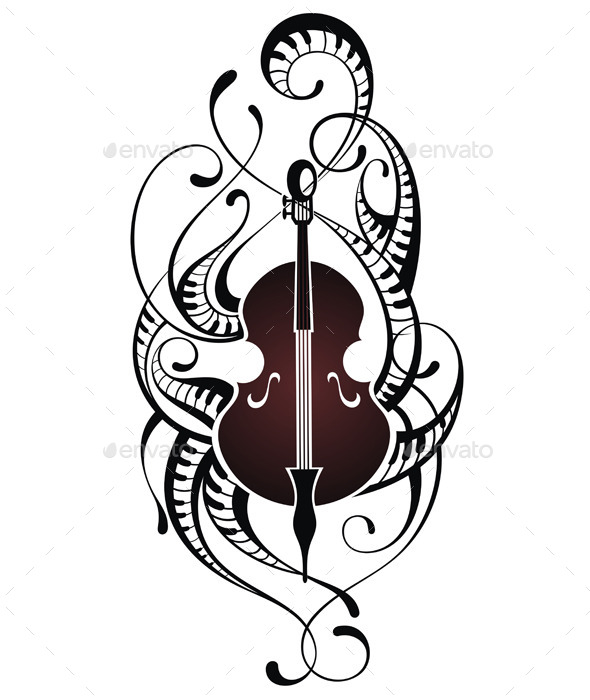 GraphicRiver Violin Illustration 11458904