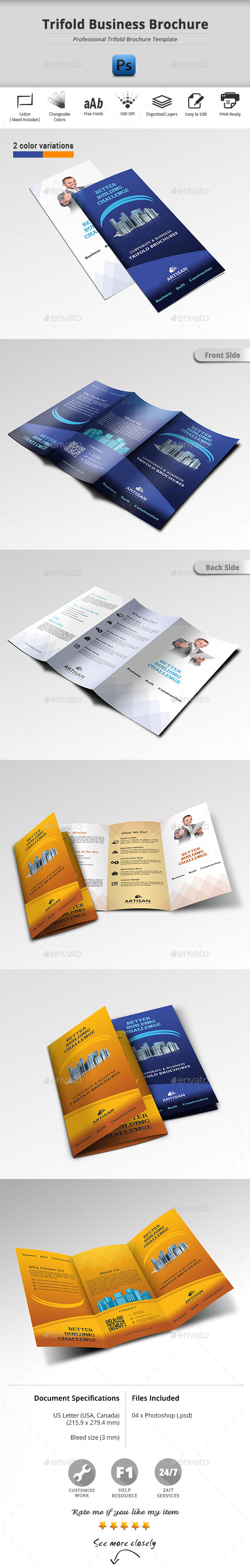 GraphicRiver Trifold Business Brochure 11458928