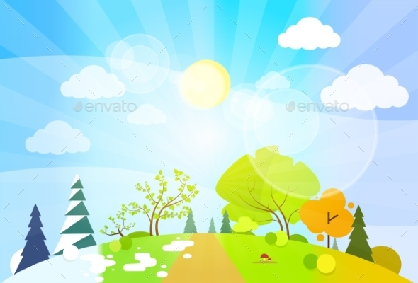 GraphicRiver Four Seasons Landscape 11458997