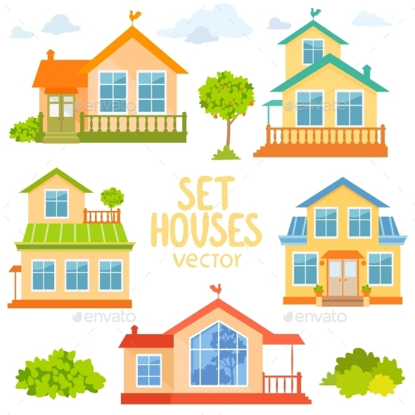 GraphicRiver Set Houses 11459049