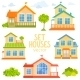 Set Houses - GraphicRiver Item for Sale