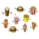 Cartoon Fast Food and Takeaways Characters - GraphicRiver Item for Sale