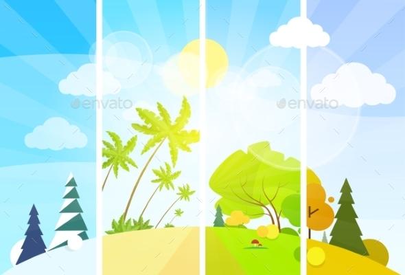GraphicRiver Four Season Concept Landscape 11459071