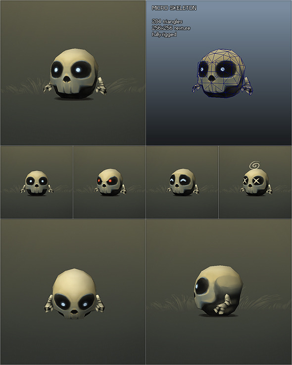 Low Poly Micro Skeleton Tom 3DOcean -  Fantasy and Fiction  Monsters and Creatures 1149642 torrent