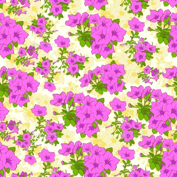 GraphicRiver Flower Seamless Pattern 11459104