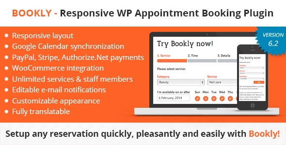 Bookly – Responsive WordPress Appointment Booking and Scheduling Plugin - CodeCanyon Item for Sale