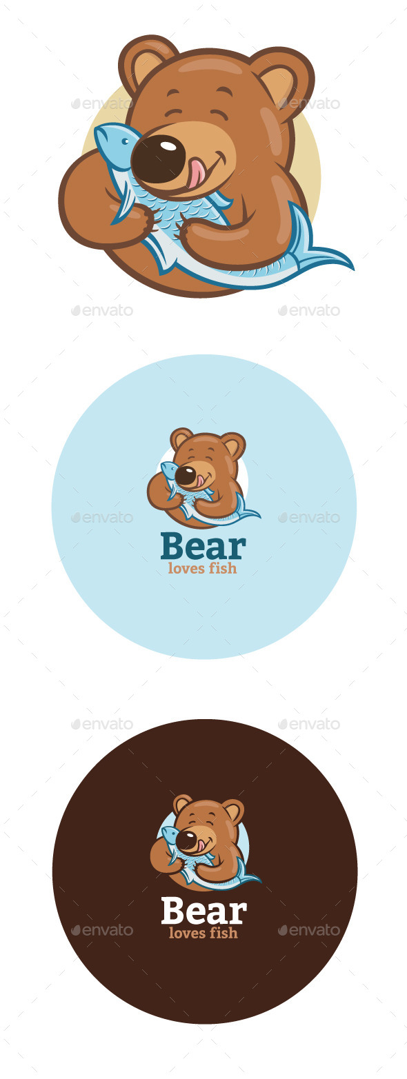 GraphicRiver Bear Loves Fish 11455225