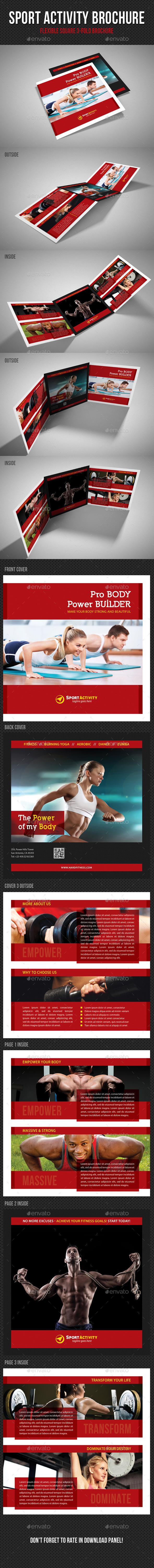 GraphicRiver Sport Activity Square 3-Fold Brochure V03 11459507