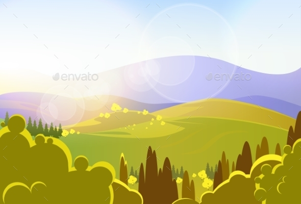GraphicRiver Autumn Yellow Mountains Landcape 11459586