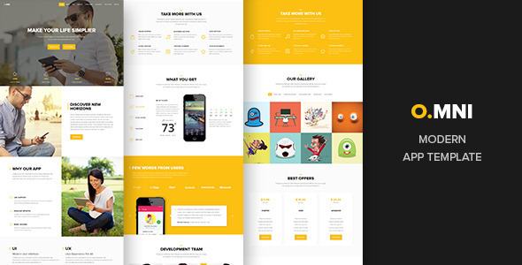 Omni – Modern HTML App Template (Software) Download
