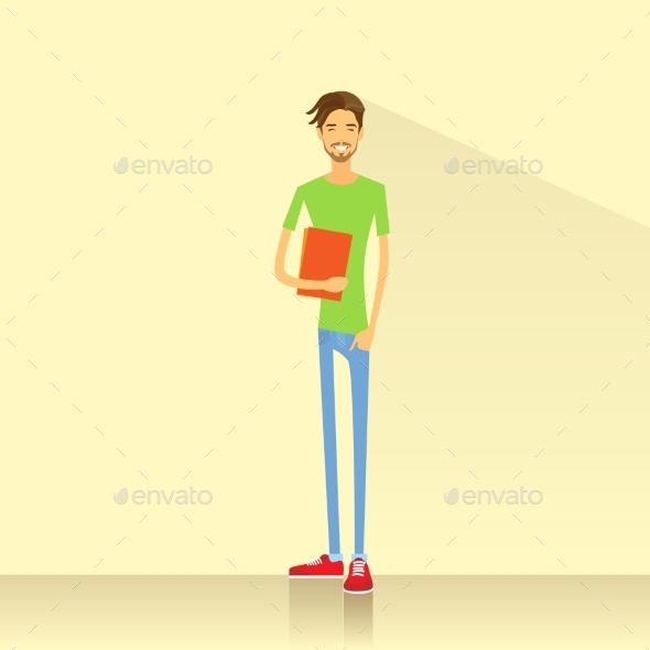 GraphicRiver Young Student Holding Books 11459619