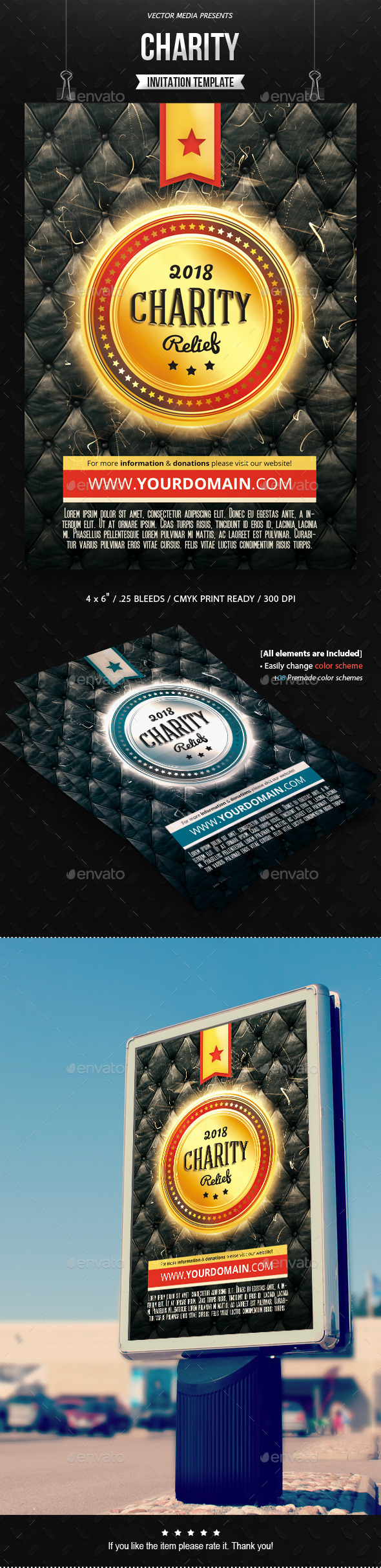 GraphicRiver Charity Invitation 11459626