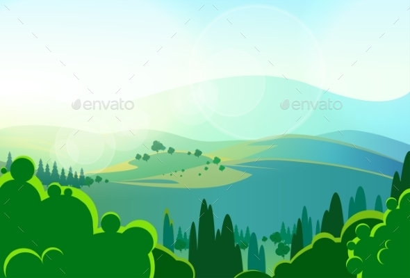 GraphicRiver Summer Green Mountains 11459690