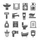 Bathroom Icon Set - GraphicRiver Item for Sale