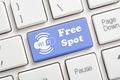 Free wifi spot key on keyboard - PhotoDune Item for Sale