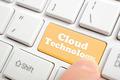 Pressing cloud technology key on keyboard - PhotoDune Item for Sale