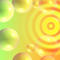 bright abstract background with bubbles - PhotoDune Item for Sale
