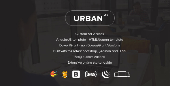 Urban – Responsive Admin Template + Customizer Access (Admin Templates) Download