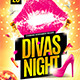 Divas Night Flyer Template - GraphicRiver Item for Sale