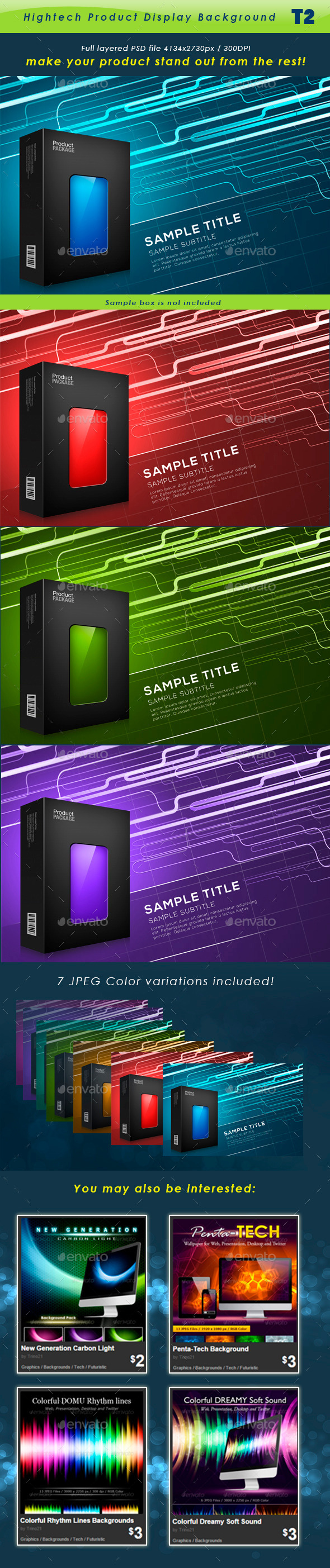 GraphicRiver Hightech Product Background T3 11460018