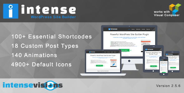 Intense - Shortcodes and Site Builder for WordPress - CodeCanyon Item for Sale