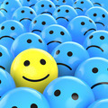 happy smiley between sad ones - PhotoDune Item for Sale
