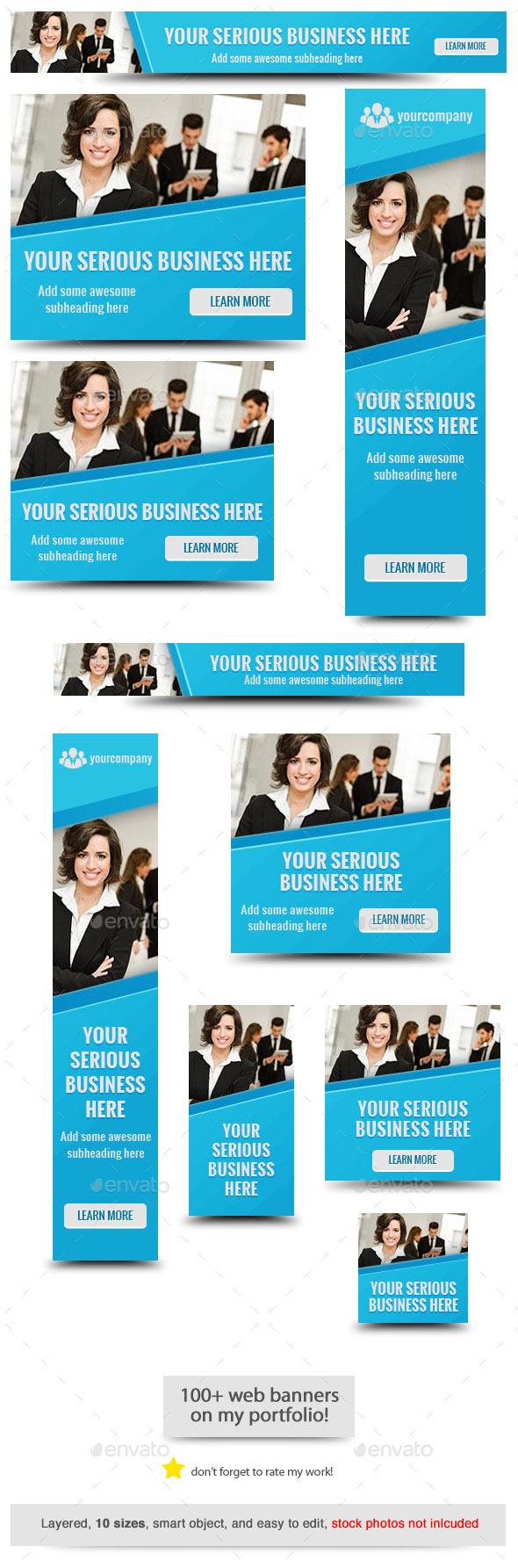 GraphicRiver Corporate Web Banner Design Template 60 11460228