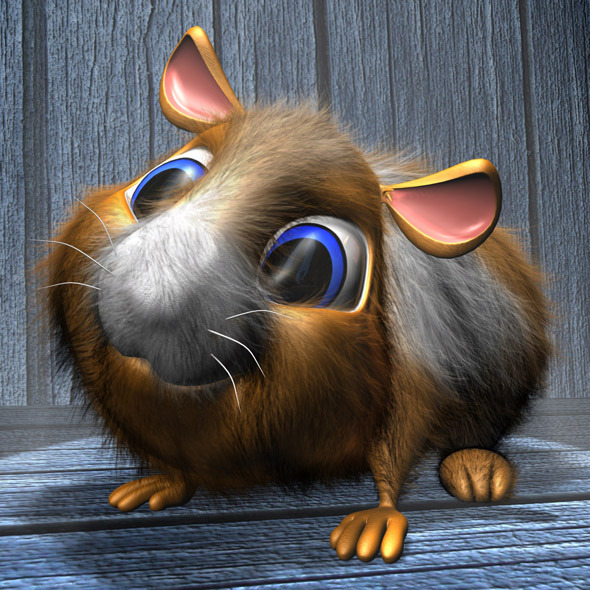 3DOcean Cartoon Hamster RIGGED 11460437