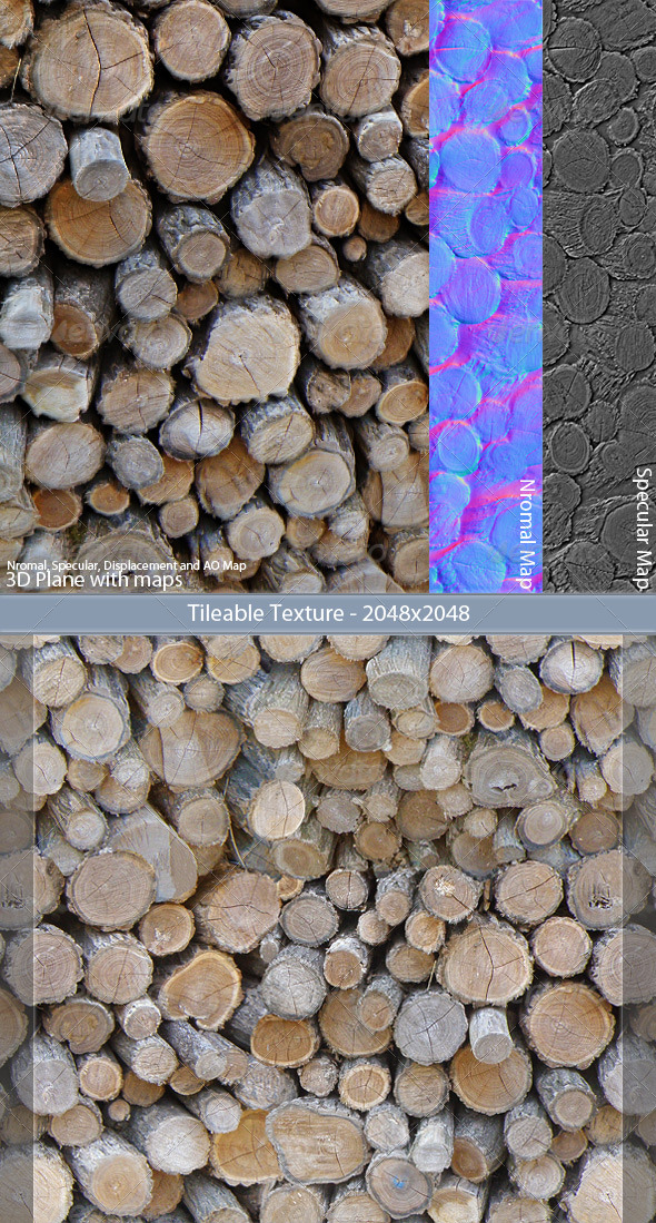 3DOcean Wood Stack Tileable Texture 141515