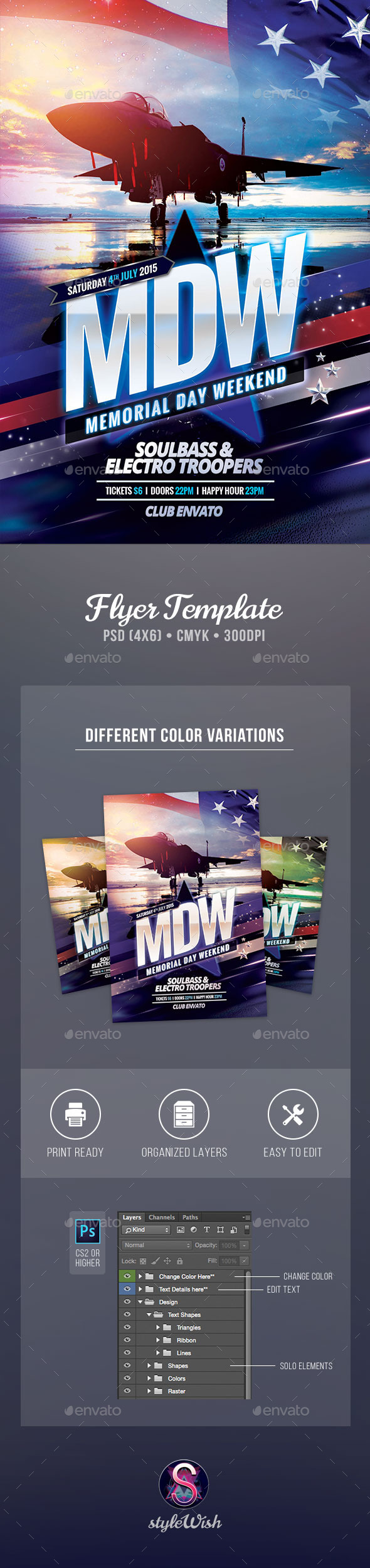 GraphicRiver Memorial Day Weekend Flyer 11460494