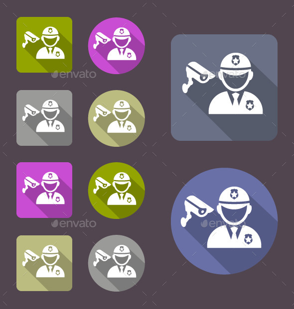 GraphicRiver Security Guards Icon 11460539