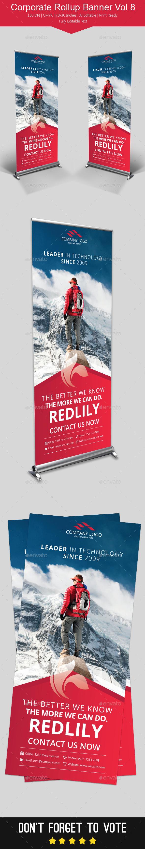GraphicRiver Corporate Rollup Banner Vol.8 11460615