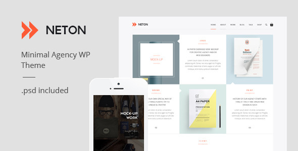 ThemeForest Neton Minimal Agency Multipurpose Wordpress Theme 11392746