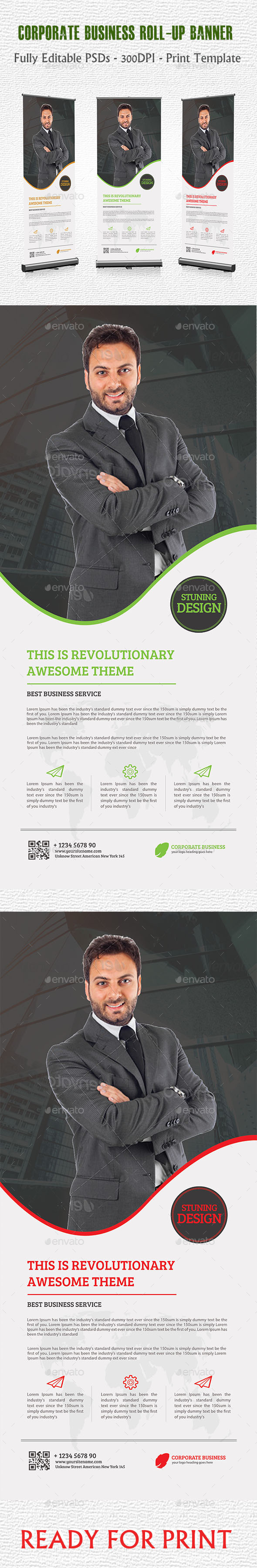 GraphicRiver Corporate Business Roll-up Banner 11460958