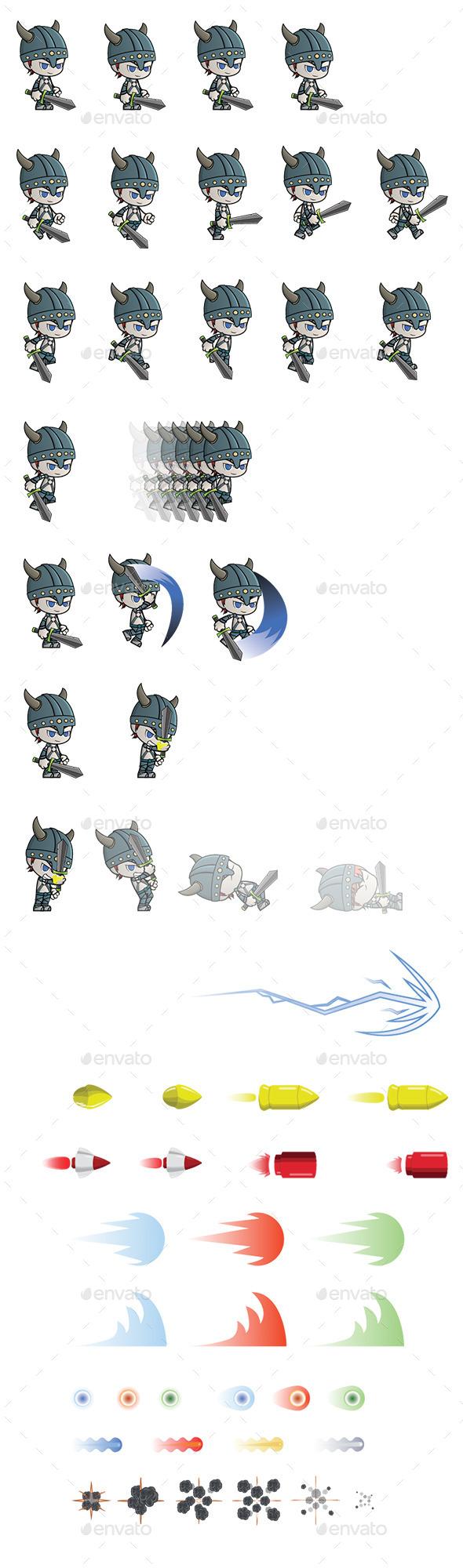 GraphicRiver Viking Sprite 11460969