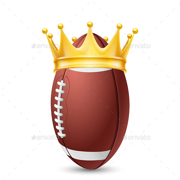 GraphicRiver Golden Crown on Rugby Ball 11461227
