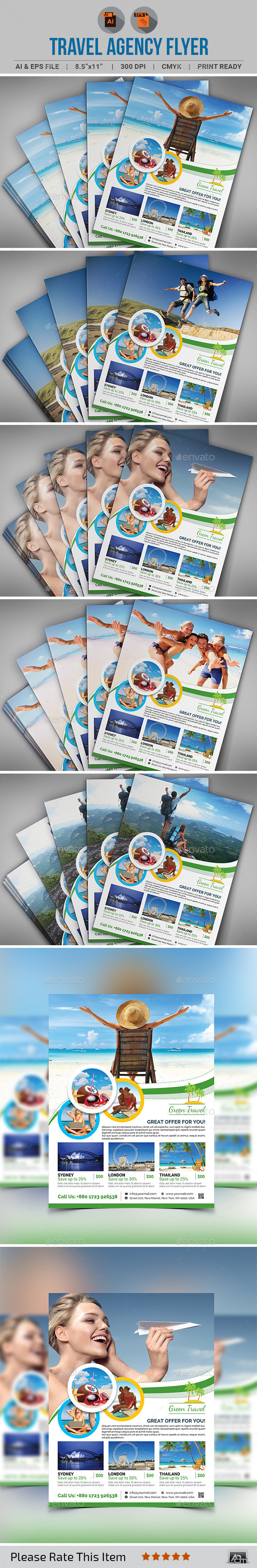 GraphicRiver Travel Agency Flyer 11461253