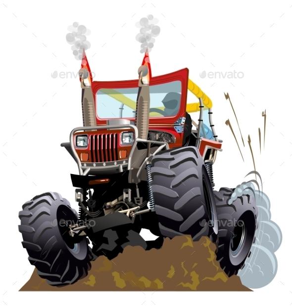 GraphicRiver Cartoon Monster Truck 11461933