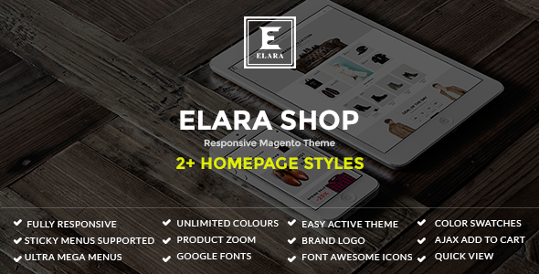ThemeForest Elara Responsive Magento Fashion Theme 11462231