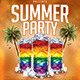 Summer Party |Cocktail Night Flyer PSD Template - GraphicRiver Item for Sale