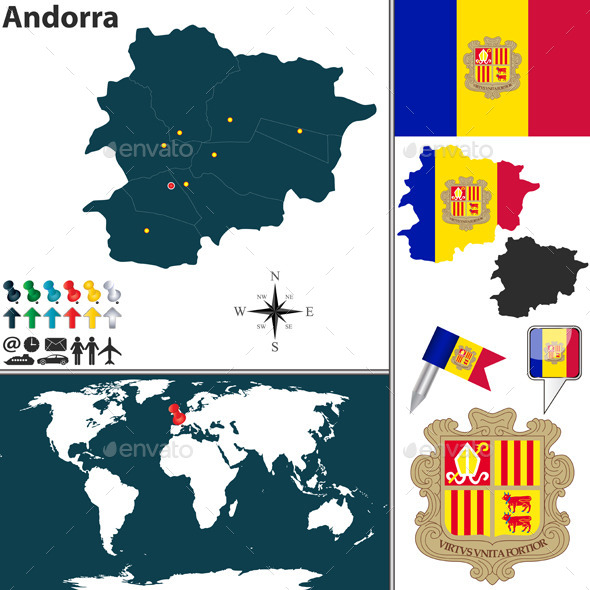 GraphicRiver Map of Andorra 11462463