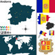 Map of Andorra - GraphicRiver Item for Sale