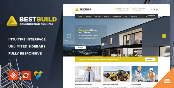 ThemeForest BestBuild Construction & Building WP Theme 11424772