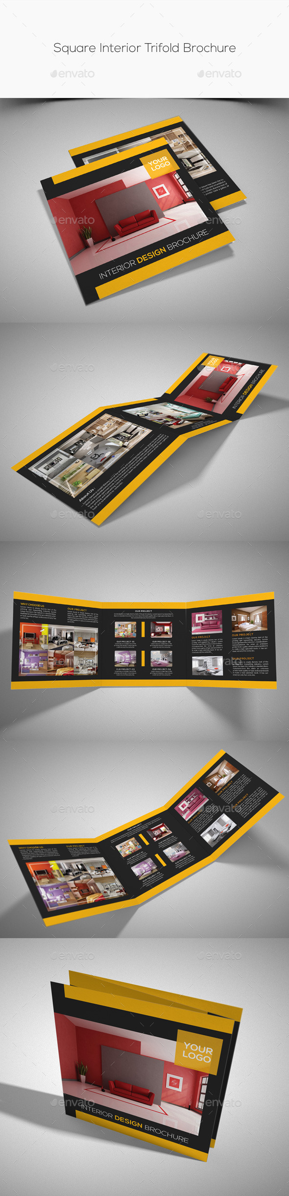 GraphicRiver Square Interior Trifold Brochure 11462937