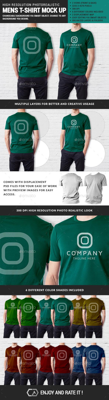 GraphicRiver Men Multipurpose Tshirt Mock Up 11455167