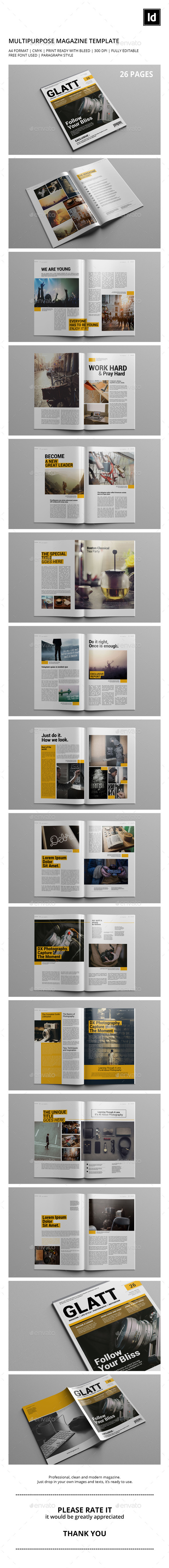 GraphicRiver GLATT Multipurpose Magazine Template 11463247