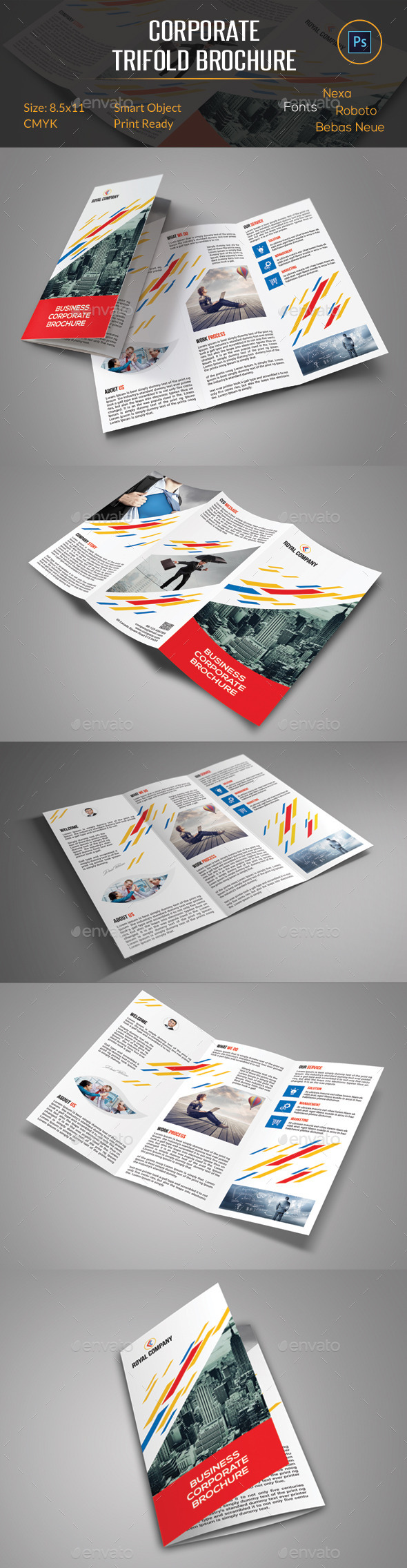 GraphicRiver Corporate Trifold Brochure 11463287