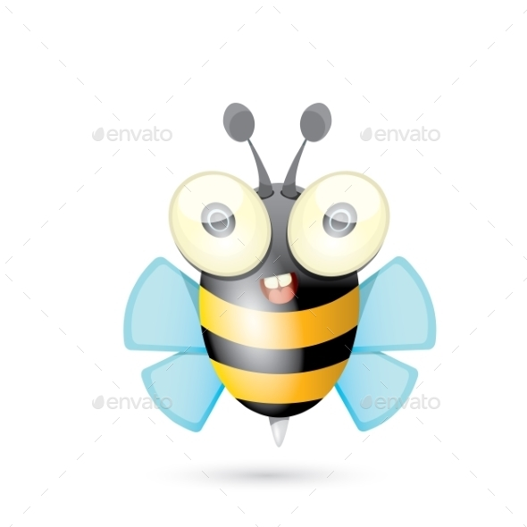 GraphicRiver Cartoon Bright Baby Bee 11464101